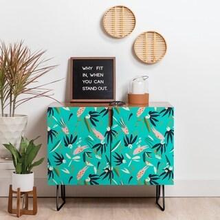 Deny Designs Tropical Ocean Credenza (Birch or Walnut, 2 Leg Options)
