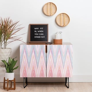 Deny Designs Agate Chevron Credenza (Birch or Walnut, 2 Leg Options)