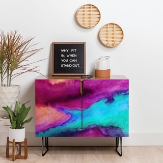 Deny Designs The Tide Credenza (Birch or Walnut, 2 Leg Options)