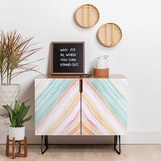 Deny Designs Desert Matcha Agate Credenza (Birch or Walnut, 2 Leg Options)