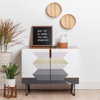 Link to Deny Designs Block Geometric Credenza (Birch or Walnut, 2 Leg Options) Similar Items in Dining Room & Bar Furniture
