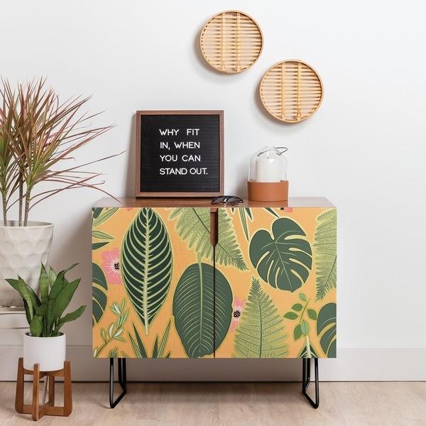 Deny Designs Tropics Credenza (Birch or Walnut, 2 Leg Options)