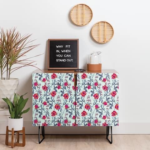 Deny Designs Blossom Credenza (Birch or Walnut, 2 Leg Options)