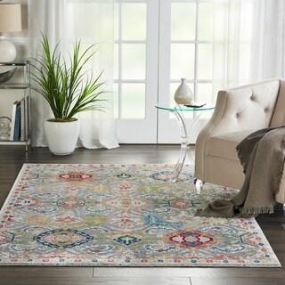 Nourison Global Vintage Grey/Multicolor Persian Area Rug