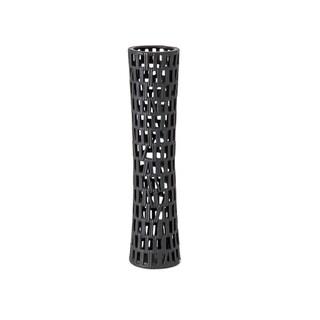 Copper Grove Khreshtivka Modern Black Cylindrical Cutout Vase