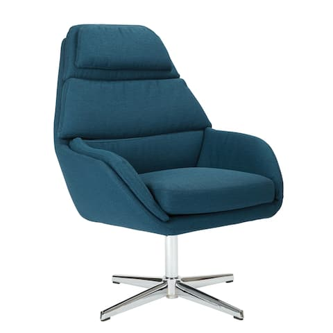 Lauren Swivel Chair with Chrome Legs