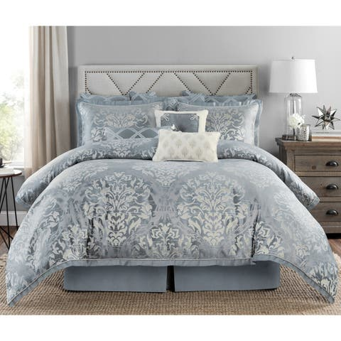 Marianna Damask Queen Comforter Set