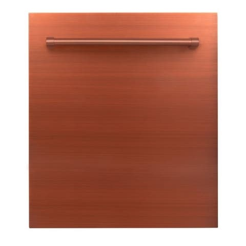 24 in. Top Control Dishwasher in Copper with Stainless Steel Tub and Traditional Style Handle