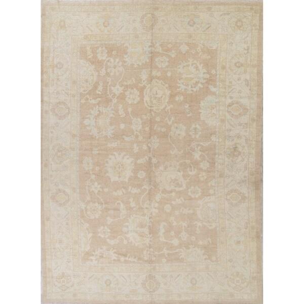 "Oushak All-Over Handmade Wool Turkish Oriental Area Rug - 14'2"" x 10'3"""