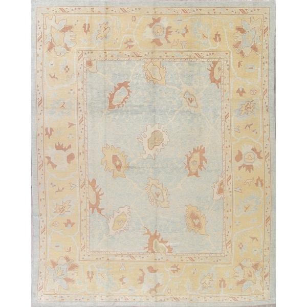 "Oushak All-Over Handmade Wool Turkish Oriental Area Rug - 13'5"" x 10'6"""