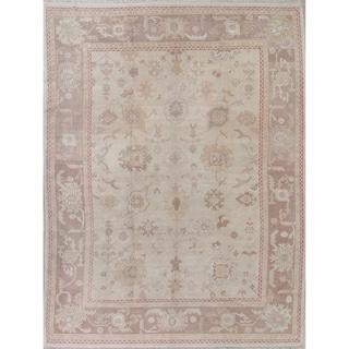 "Oushak All-Over Handmade Wool Turkish Oriental Area Rug - 14'0"" x 10'4"""