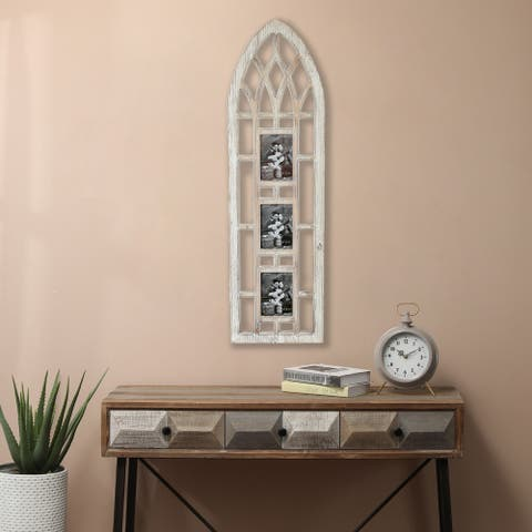 The Gray Barn Cathedral Wall Window with Three Picture Frames