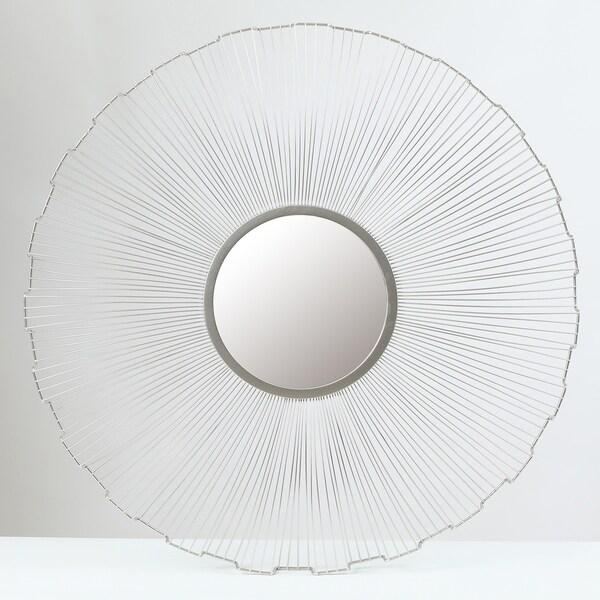 25.75in. Dia. Iron Frame Mirror Wall Decor