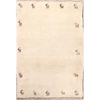 "Gabbeh Tribal Handmade Wool Persian Oriental Area Rug - 4'6"" x 3'2"""