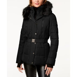 Link to Michael Kors Belted Faux Fur Trim Puffer Coat Similar Items in Women's Outerwear