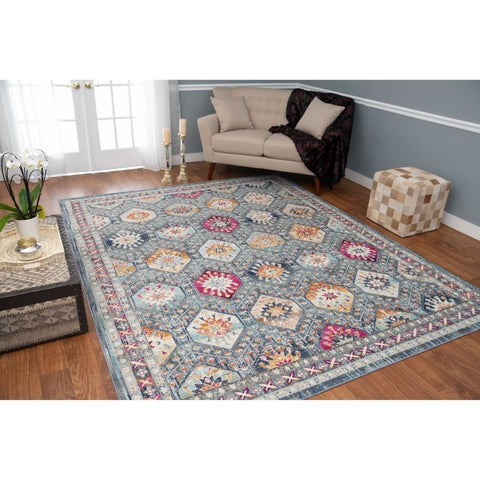 Noori Rug Low-Pile Webster Grey/Blue Rug