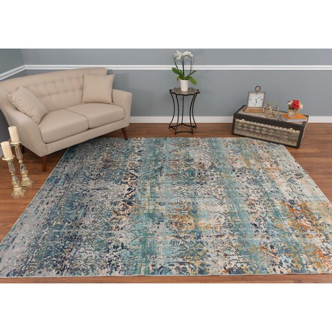 Noori Rug High-low Westfield Teal Green/Ivory Rug