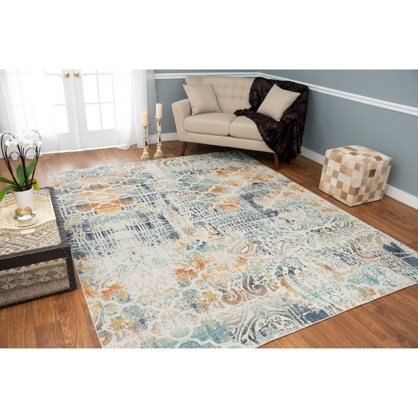 Shop Noori Rug Low-Pile Webster Ivory/Teal Green Rug