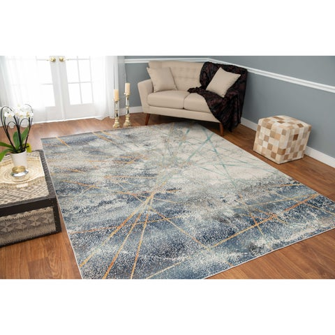 Noori Rug Low-Pile Webster Ivory/Blue Rug