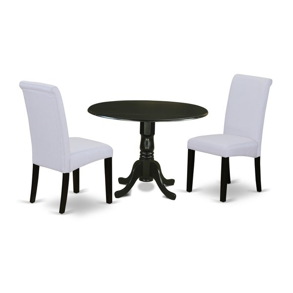 Shop 3Pc Small Round Kitchen Table With Elegant Parson