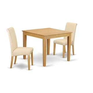3Pc Square Kitchen table with elegant parson chairs (Number of chair option)