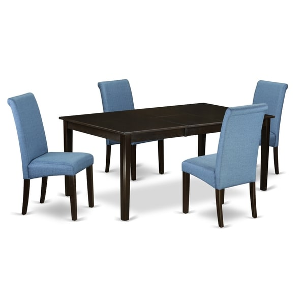 5Pc Rectangular Dining table with elegant parson chairs (Number of chair option)