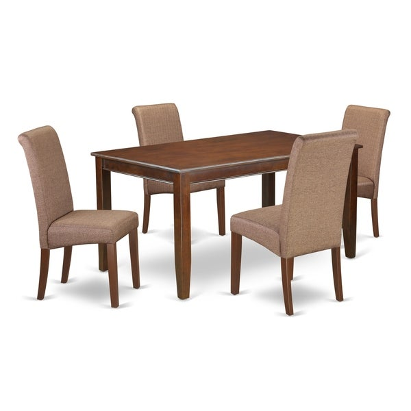 5Pc Rectangular Kitchen table with elegant parson chairs (Number of chair option)