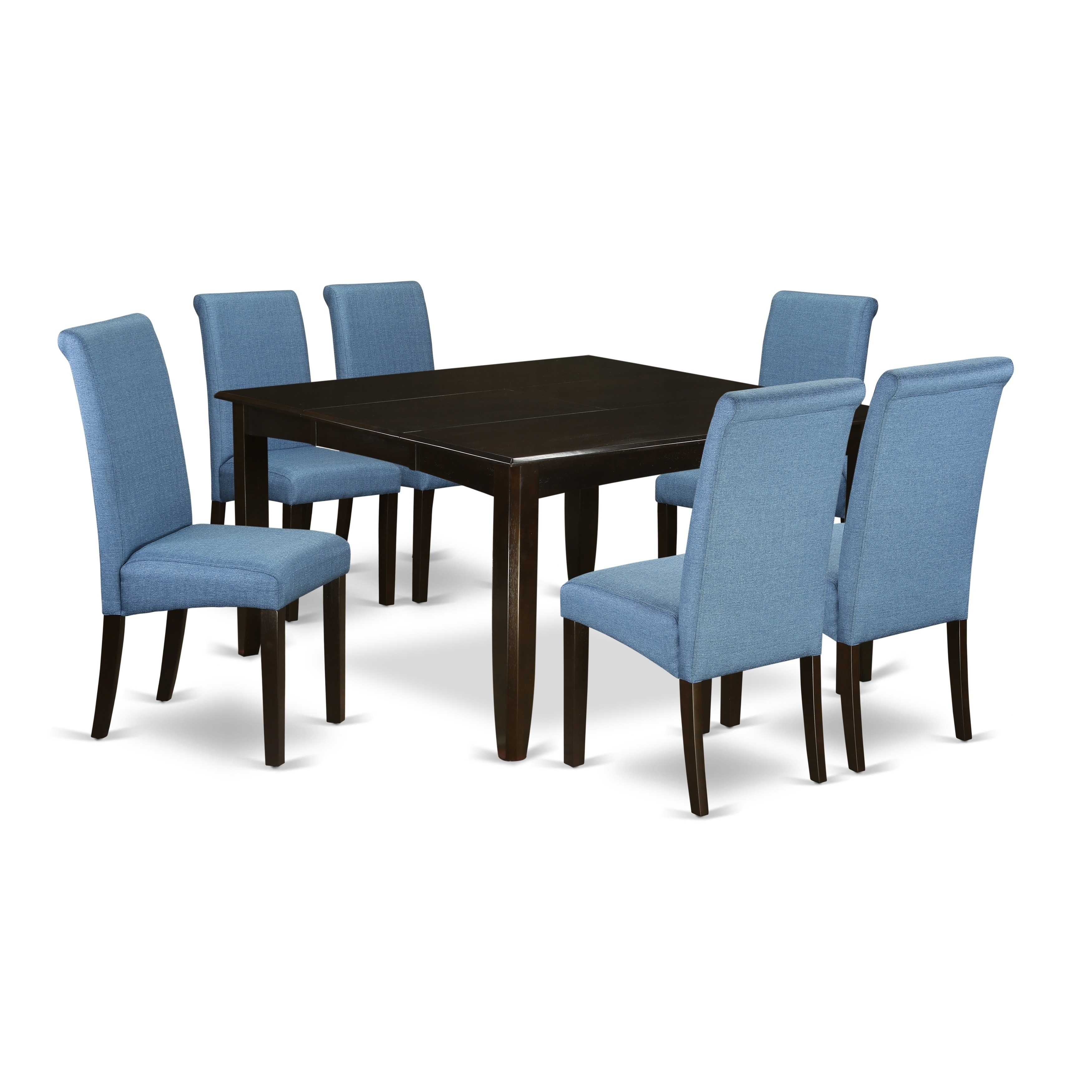 5pc Square Kitchen Table With Elegant Parson Chairs Number Of Chair Option