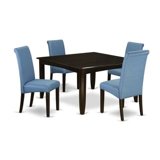 5Pc Square kitchen table with elegant parson chairs (Number of chair option)