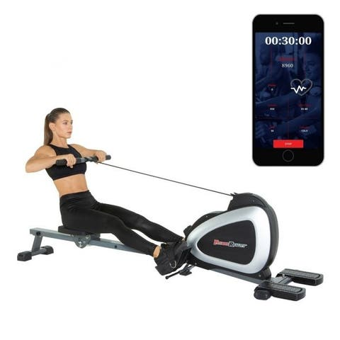 FITNESS REALITY 1000 PLUS Rower with Full Body Exercises and Free App