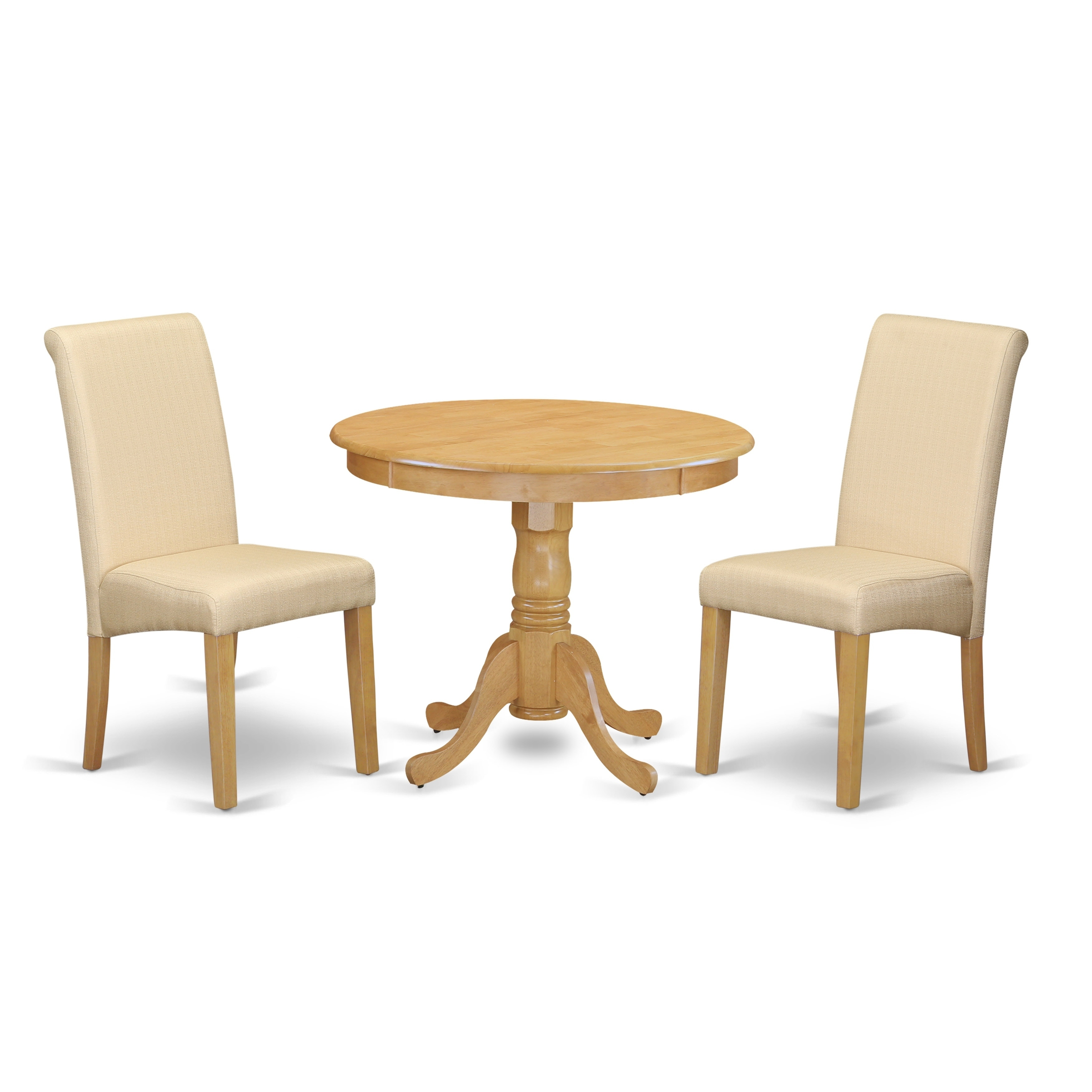 3pc Small Round Kitchen Table With Elegant Parson Chairs Number Of Chair Option