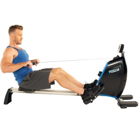 PROGEAR 1200XL Full Body Workout Rower with Goal Setting Computer