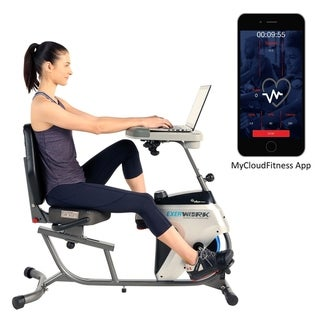 Link to EXERPEUTIC 2500 ExerWork Adjustable Desk Recumbent Bike with Free APP Similar Items in Cardio Equipment
