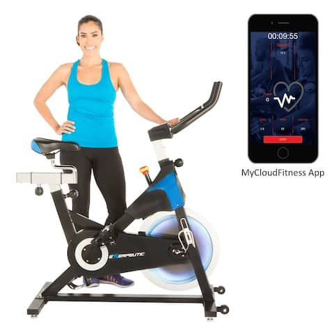 EXERPEUTIC LX 8.5 Indoor Cycling Exercise Bike with Free App