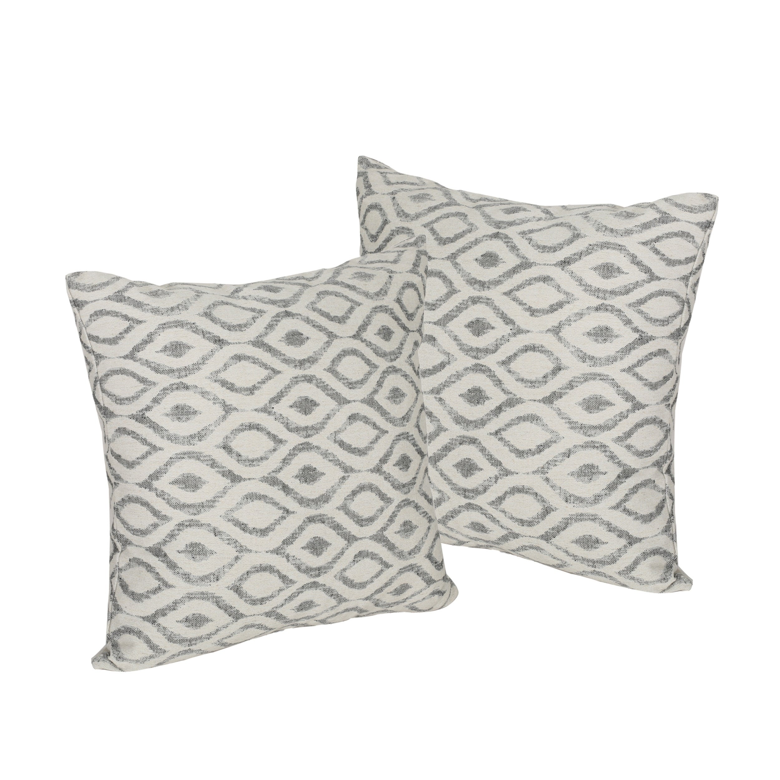 Fabric For Pillow Covers.Arellano Modern Fabric Throw Pillow Cover No Filling Set Of 2 By Christopher Knight Home