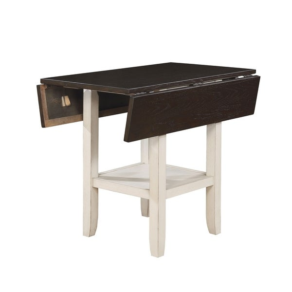 Shop Dual Tone Solid Wood Counter Height Table With Bottom