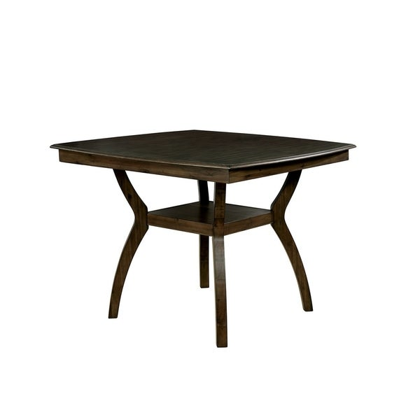 Astounding Transitional Style Curved Solid Wood Counter Height Table With Flowing Legs Brown Download Free Architecture Designs Rallybritishbridgeorg
