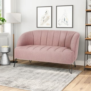 Link to Lupine Modern Fabric Loveseat with Hairpin Legs by Christopher Knight Home Similar Items in Living Room Furniture