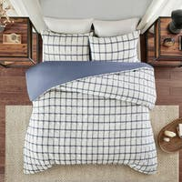 Madison Park Matthies Printed Seersucker Duvet Cover Set 2-Color Option