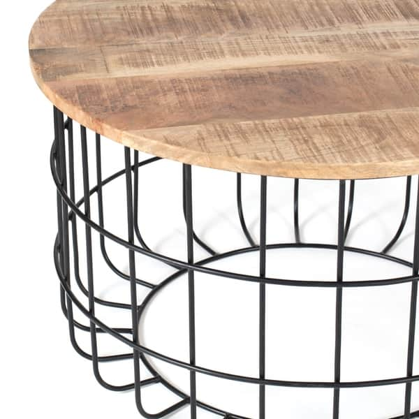 Groovy Shop Carbon Loft Chessor Black And Natural Wood Cage Coffee Lamtechconsult Wood Chair Design Ideas Lamtechconsultcom