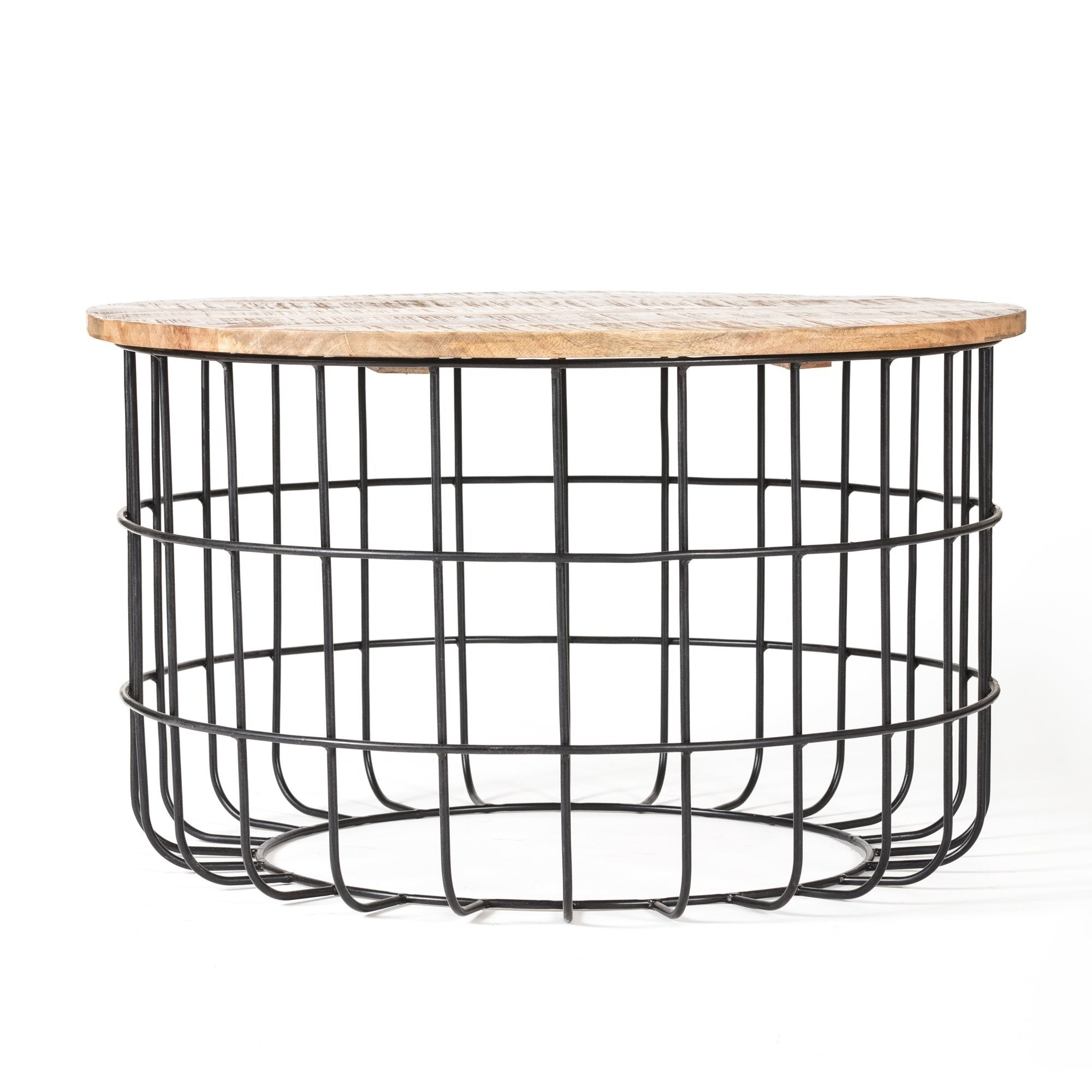 Excellent Carbon Loft Chessor Black And Natural Wood Cage Coffee Table Lamtechconsult Wood Chair Design Ideas Lamtechconsultcom