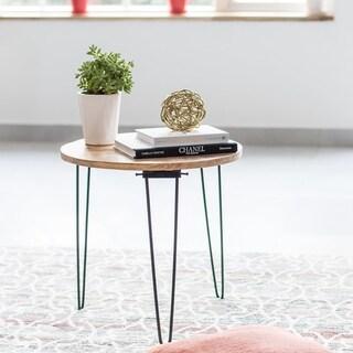 Bogart Black, Natural Wood Folding Side Table