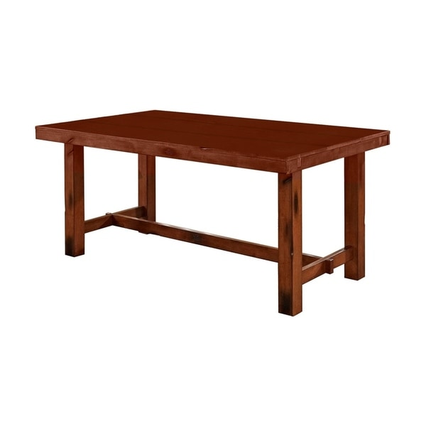 Shop Distressed Dark Oak Wood Kitchen Dining Table Free