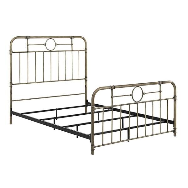 Shop Antique Bronze Metal Queen Industrial Pipe Design Bed Free Shipping Today Overstock