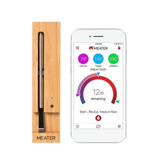 MEATER 165 Ft. Wireless Smart Meat Thermometer Oven, BBQ Smoker Rotisserie with Bluetooth & WiFi Digital Connectivity