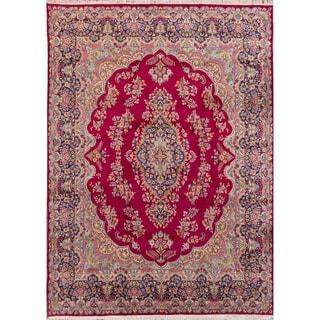 ECARPETGALLERY Hand-knotted Kerman Burgundy Wool Rug - 10'0 x 13'6