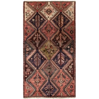 ECARPETGALLERY Hand-knotted Finest Baluch Red Wool Rug - 3'5 x 6'4