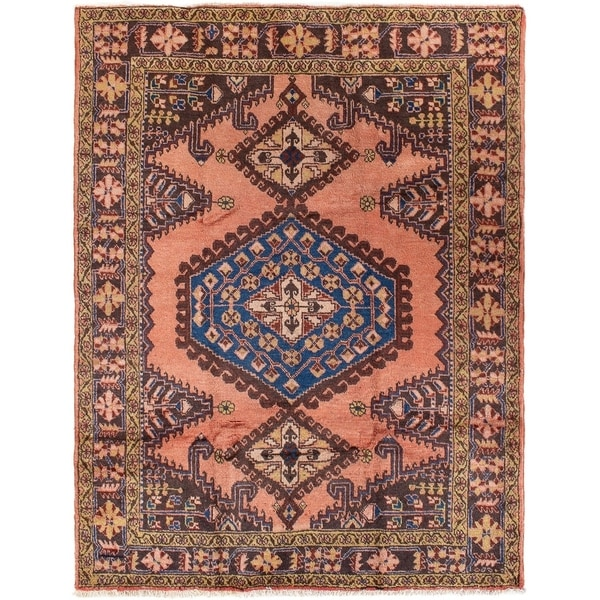 ECARPETGALLERY Hand-knotted Malayer Copper Wool Rug - 5'3 x 10'2