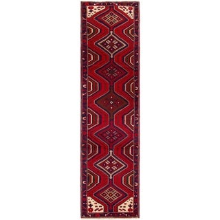 ECARPETGALLERY Hand-knotted Saveh Red Wool Rug - 2'6 x 9'11