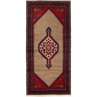 ECARPETGALLERY Hand-knotted Koliai Khaki, Red Wool Rug - 2'11 x 6'6